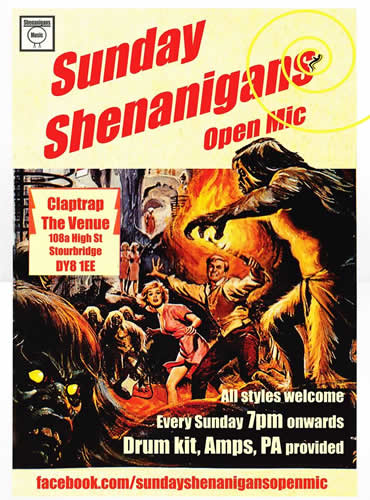 Sunday Shenanigans Open Mic